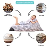 Stuffed Animal Storage Bean Bag Chair Fill up with Soft Toys Pillows, Turn the