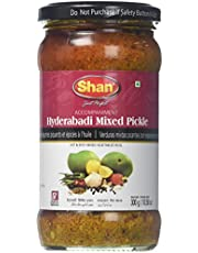 Shan, Hyderabadi Mixed Pickle (Hot & Spicy Mixed Vegetable in Oil), 300 Grams(gm)