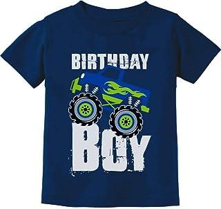 Birthday Boy Gift for Boys Big Truck Birthday Toddler Kids T-Shirt