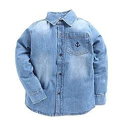 TONYBOY Denim Full Sleeves Boys Shirts