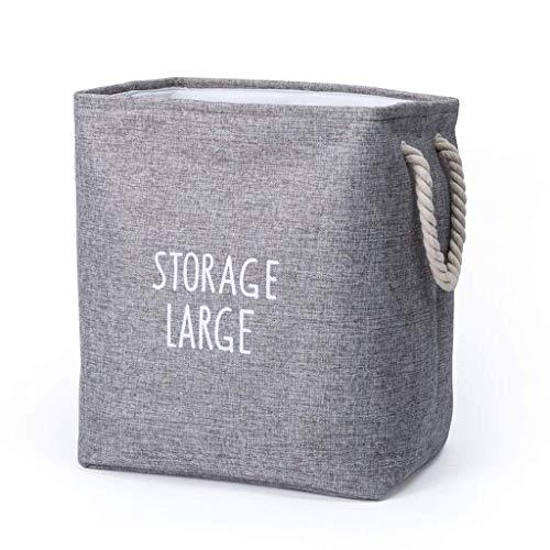 MLOZS Bolsa de almacenamiento para el hogar, cesta portátil de lino para la colada, cesta de almacenamiento de arte nórdico, cesta de almacenamiento grande plegable (tamaño pequeño: pequeño)