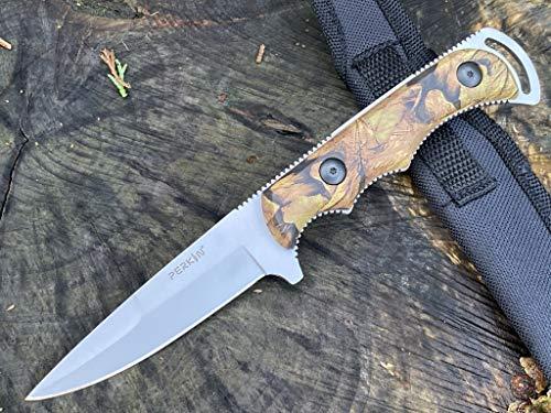 Perkin Cuchillo de caza de hoja fija con funda