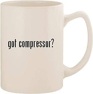 got compressor? - White 14oz Ceramic Statesman Coffee Mug Cup