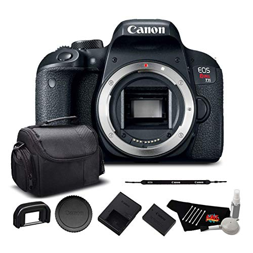 Canon EOS Rebel T7i Digital SLR Camera (Body Only) (Kit Box) 1894C001 - Starter Bundle
