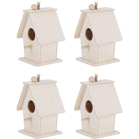 HERCHR Niches d'oiseaux pour kit extérieur, mangeoires pour nichoirs 4 pièces pour décor de Jardin Suspendu à l'extérieur