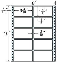 東洋印刷 タックフォームラベル 8インチ ×10インチ 10面付(1ケース500折) MT8I