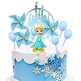 Figuras de Frozen, BESTZY Frozen Cake Topper, Mini Figuras Niños Cake Topper, Pastel Decoración Suministros, Baby Shower Fiesta de cumpleaños Pastel Decoración Suministros