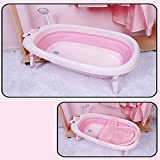 TYZY Große Raum-Bauchwanne Faltbare tragbare Kinderbadewanne Baby-Duschset kann sitzen liegen für 0 bis 6 Jahre alt