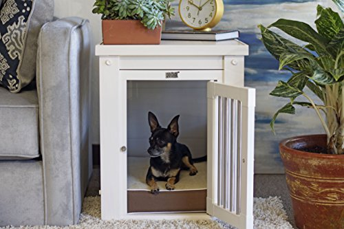 New Age Pet ecoFLEX Pet Crate/End Table, Small, Antique White