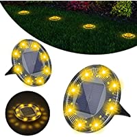 2-Pack AIRSEE Solar IP68 Waterproof Solar Pathway Lights
