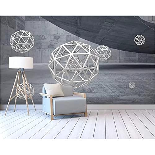 Papel tapiz 3D espacio de arquitectura abstracta papel tapiz de esfera tridimensional papel tapiz 350x245cm