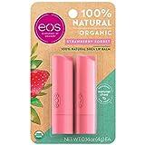 eos USDA Organic Lip Balm - Strawberry Sorbet | Lip Care to Moisturize...
