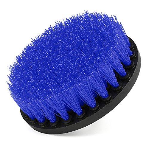EsportsMJJ 5 Inch Multifunctionele Boor Aangedreven Scrub Borstel voor Douche Tub Tegel Reiniging Blue