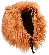 TECH-FUN Peluca de león para Perro y Gato Disfraz con Orejas Mascota Ajustable cómodo león Pelo Perro Ropa para Halloween Navidad Pascua Festival Fiesta Actividad (Perro - marrón Claro)