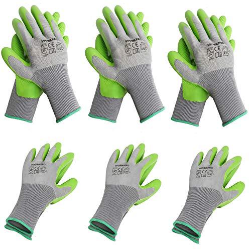 WORKPRO 6 Pairs Garden Gloves, Work Glove with Eco...