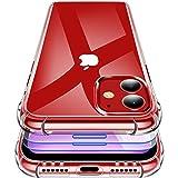 garegce cover iphone 11 (2019) + [2 packs vetro temperato] trasparente silicone morbido, antiurto antigraffio protettiva case custodia per iphone 11-6.1 pollici (trasparente)