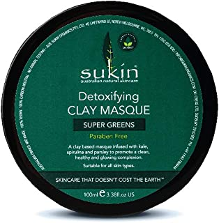 Sukin Super Greens Detoxifying Clay Masque 3 38 fl oz 100 ml