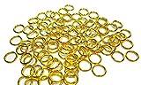 Geralin Gioielli - Arandelas abiertas, 50 unidades, 8 mm, color dorado