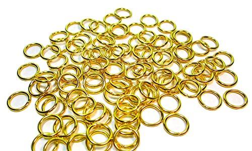 Geralin Gioielli - 100 open ringen 8 mm koper voor ogen