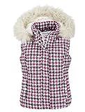 Aeropostale Women's Puffer Fur Vest Pink White Black Small