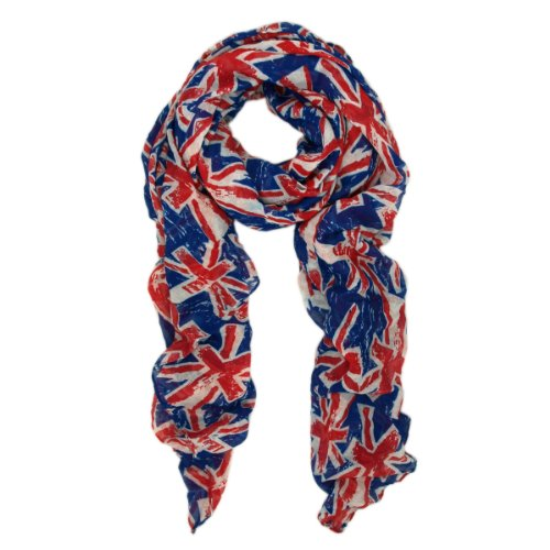 TrendsBlue UK British Flag Small Print Fashion Scarf