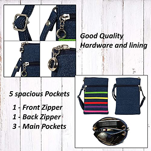 SHOPATHON INDIA Multicolour Smartphone Sling Bag With Long Belt - 8.5 Inch