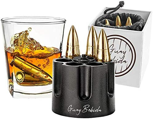 Guay Bebida Stainless Steel Chilling Ice Bullets with Pouch Reusable Stone Chiller On the Rocks product image