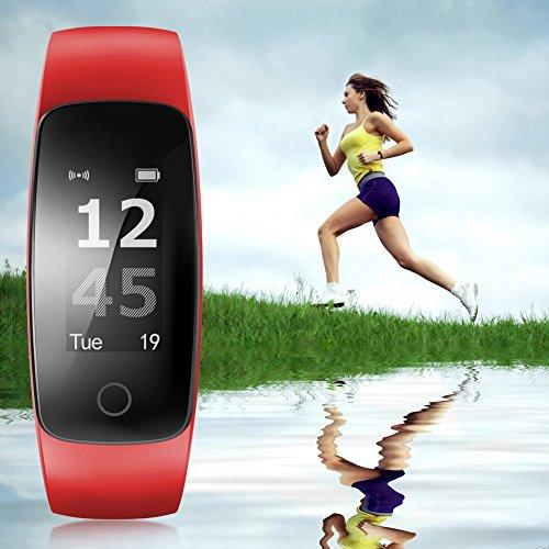 chebao, Reloj inteligente, rastreador de fitness con oxígeno en sangre, ID107 Plus pulsera de frecuencia cardíaca, reloj inteligente impermeable - 132615.04