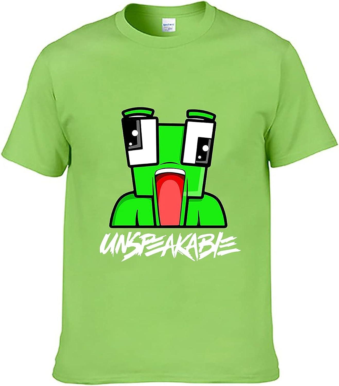 Clu Cartoon Printing Casual Round Neck Short Sleeved Shirt Unisex T-Shirt Kids Boys Girl Teen