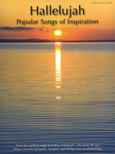 Hallelujah: Popular Songs Of Inspiration: Songbook für Klavier, Gesang, Gitarre (Piano Voice Guitar)