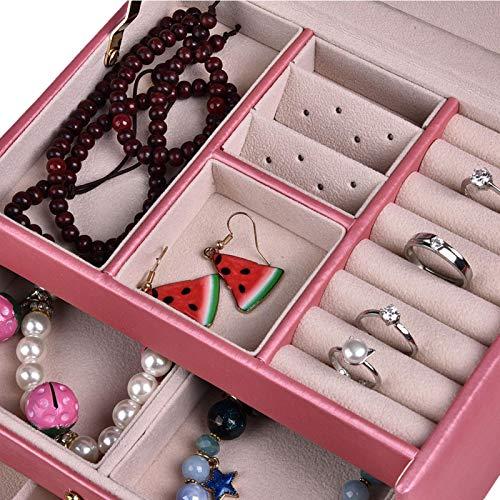 Caja de almacenamiento, caja organizadora de joyas, reloj portátil para guardar joyas