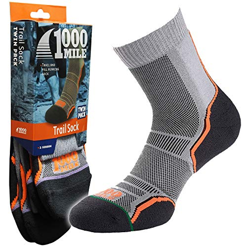1000 Mile Trail Walking Off Road Running Racing Comfort Fit Chaussettes monocouche