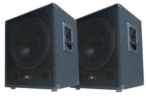 2X 600W DJ PA Subwoofer Boxen Paar - 15