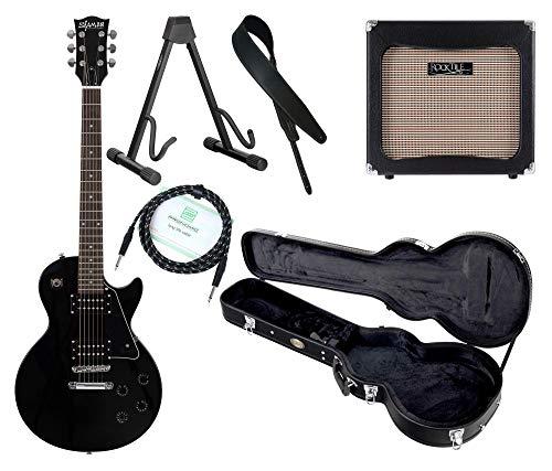 Shaman Element Series SCX-100B Komplett Set - E-Gitarre - Modeling-Verstärker - Koffer - Ledergurt - Ständer - Kabel - Schwarz