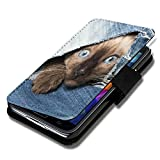 sw-mobile-shop Book Style Flip Handy Tasche Case Schutz