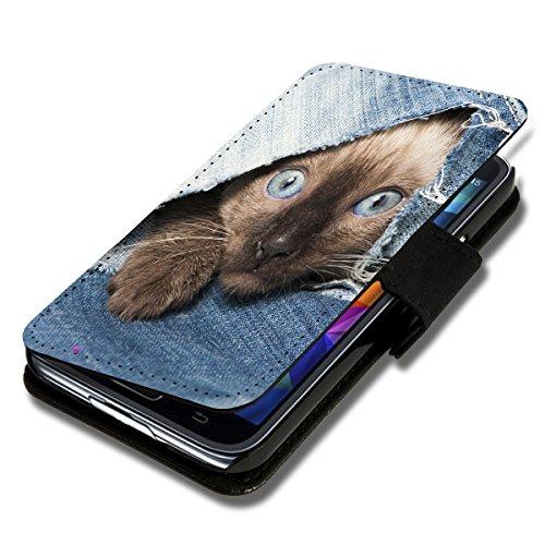 sw-mobile-shop Book Style Flip Handy Tasche Case Schutz Hülle Schale Motiv Etui für Huawei Ascend Y330 - Flip A39 Design9