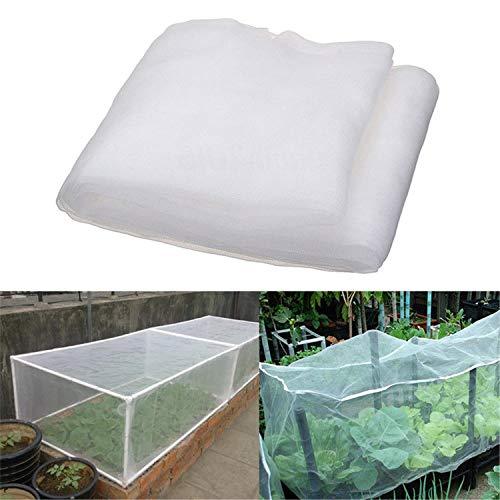 LINQI Red de insectos, red de jardín transparente, malla protectora vegetal, túnel de crecimiento para plantas, verduras, cultivos frutales (W 1/2/2,5/3M) (3 x 15 m, 80 mesh)