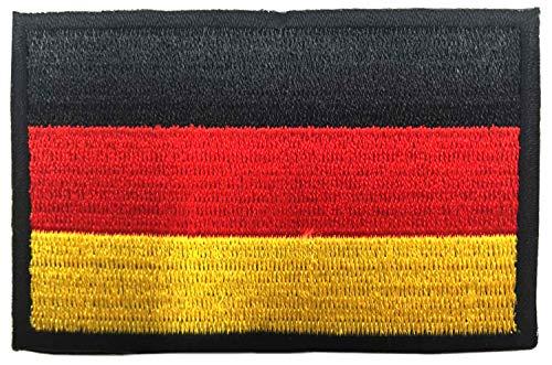 SIVENKE Deutschland Flagge Patch Airsoft Aufnäher Militär Klettbänder bestickter Deutsch Klett Emblem Abzeichen für Rucksäcke