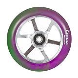 Chilli Pro '6-Spoked' Scooter Wheel. Purple/Green/Silver. 110mm. -