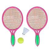 Sanmubo Plage Tennis Raquette De Badminton Raquette De Tennis Set Raquettes De Tennis Balles Kit De Badminton Intérieur en Plein Air Plage Sports Play Jeu Jouets pour Garçons, Filles, Enfants