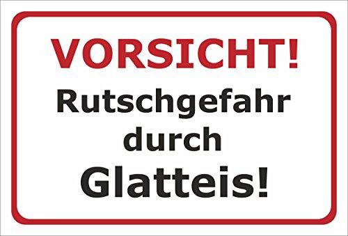 Melis Folienwerkstatt Schild Rutschgefahr Glatteis - 30x20cm - 3mm Aluverbund – 20 VAR S00018-012-B