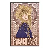 FIAI Stevie Nicks Illustration Art Poster Poster Decorative Painting Canvas Wall Art Living Room Posters Bedroom Painting 12×18inch(30×45cm)