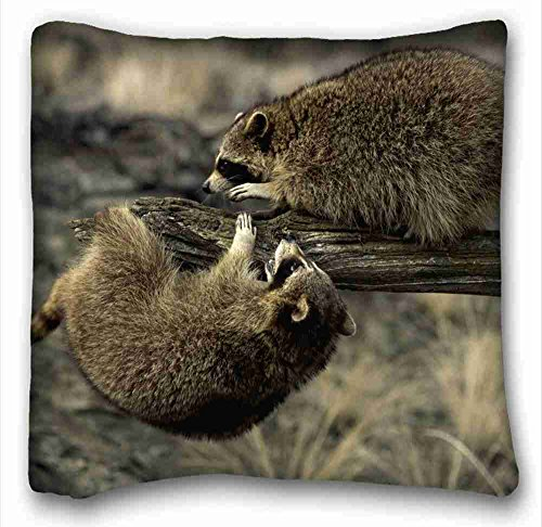 Custom ( Animal Quokka ) Pillow Cushion Case Cover One Sides Printed 16x16 Inches suitable for King-bed PC-White-2863