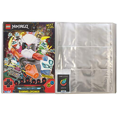 Next Level Lego Ninjago 5 Trading Cards - 1 Leere Sammelmappe + 40 Collect-it Hüllen Sleeves