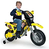 Injusa Made in Spain Thunder Max 12V Battery Powered Dirt Bike Ride On Motorcycle for Kids
