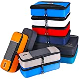 PRO Packing Cubes for Travel | 10 Piece Luggage Organizer Set | Premium Quality Travel Cubes for Packing Suitcase, Carry-on, Bags and Backpack - Mixed Colors