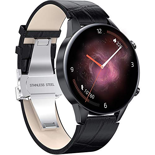 Business Smart Watch 24 Hours Heart Rate Monitor Fitness Tracker Blood Pressure Blood Oxygen IP68 Waterproof Activity Tracker Step Calorie Counter Sports Watch