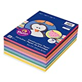 Pacon Lightweight Super Value Construction Paper P6555, 9' x 12', 10 Assorted Colors, 500 Sheets