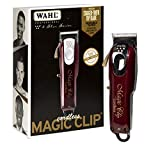 Wahl Professional 5-Star Magic Clip Cord Cordless Hair Clipper for Barbers and Stylists, Red, 6.25 Inch