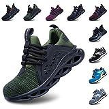 Zapatos De Seguridad Hombres Zapatillas De Trabajo con Punta De Acero S3 Calzado Mujeres Reflectante Cómodo ESD Botas Construcción Industria SRC Gris 42